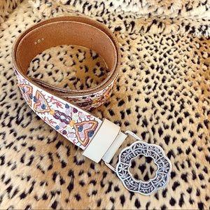 Lucky brand boho embroidered western belt